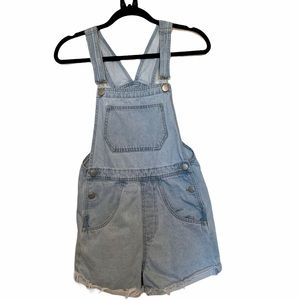 Cotton On Denim Overall Jean Shorts size 4